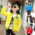 Free shipping Winter boys girls labeling recreational cap cotton quilted jacket children clothing