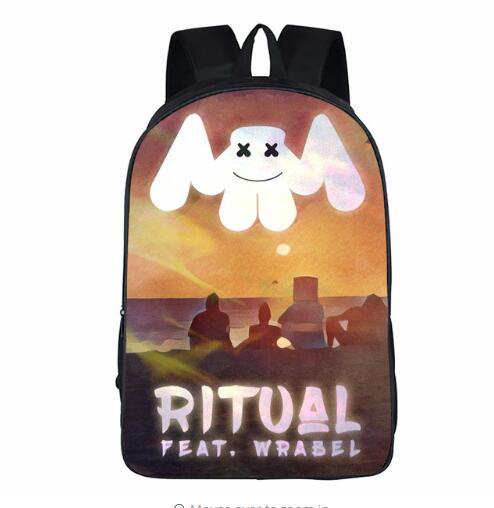 School-Bag-for-Kids-Boy-Girls-Backpack-3D-Marshmello-Printing-Backpack-Female-Schoolbag-School-Supplies-Satchel (5)