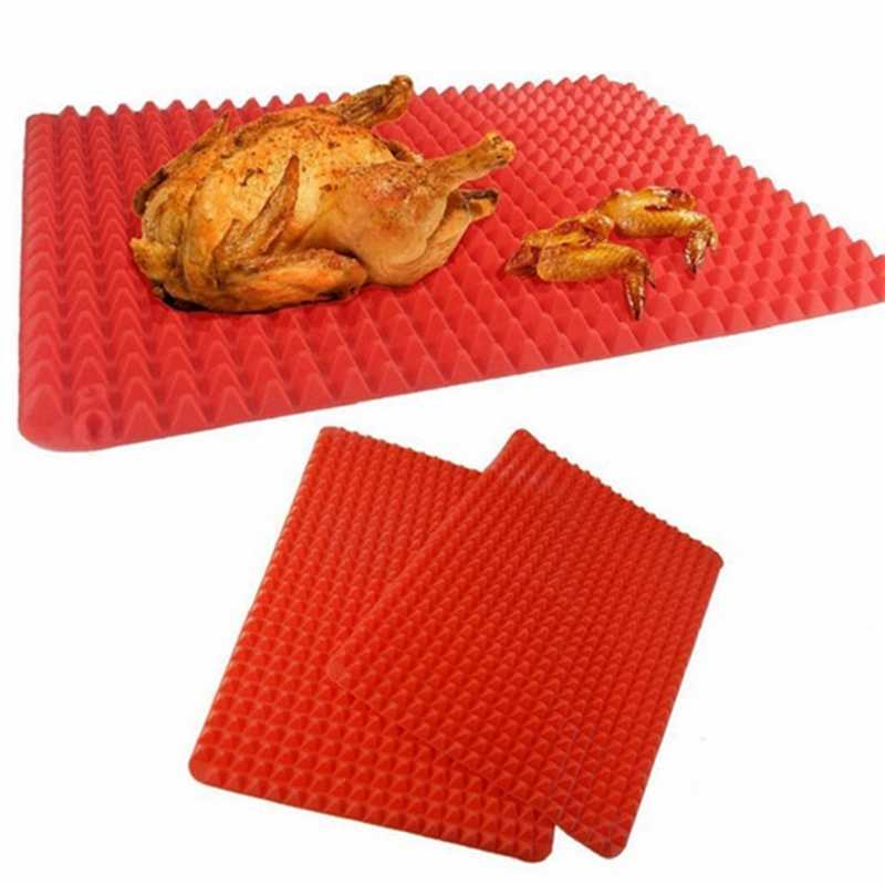BBQ Bakeware  Nonstick Silicone Baking Mats Pad Moulds Microwave Oven Baking Tray Sheet Kitchen Baking Tools