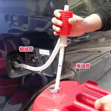 UniversalCAR apartment samochód motocykl ręczny ręczny syfon syfon pompy oleju benzyna Diesel paliwa Transfer cieczy rury tankowania Sucker
