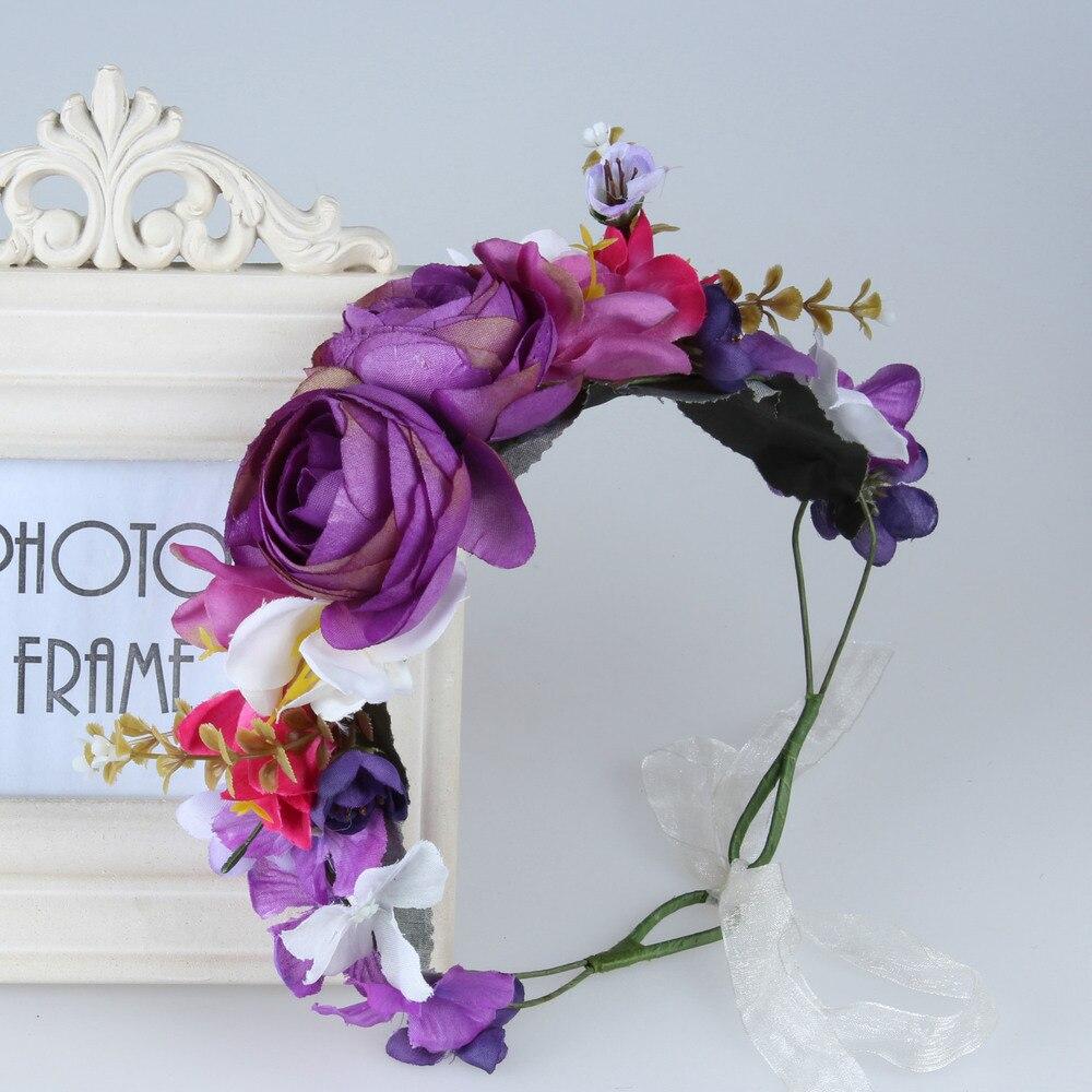2018 New Woman Handmade Sunflower Flower Crown Garland Wedding