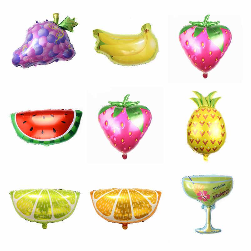 1 cái Dứa chuối orange nho trái cây khác nhau bóng bay trẻ em sinh nhật trang trí bên kdis bé tắm bóng globos