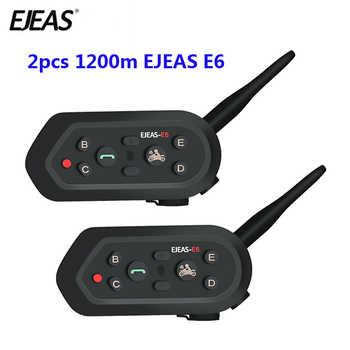2 pcs EJEAS E6 Multifunctio Motorcycle Intercom VOX BT Headset Helmet Interphone Bluetooth Intercom for 6 Riders 1200M Communica - DISCOUNT ITEM  39% OFF All Category