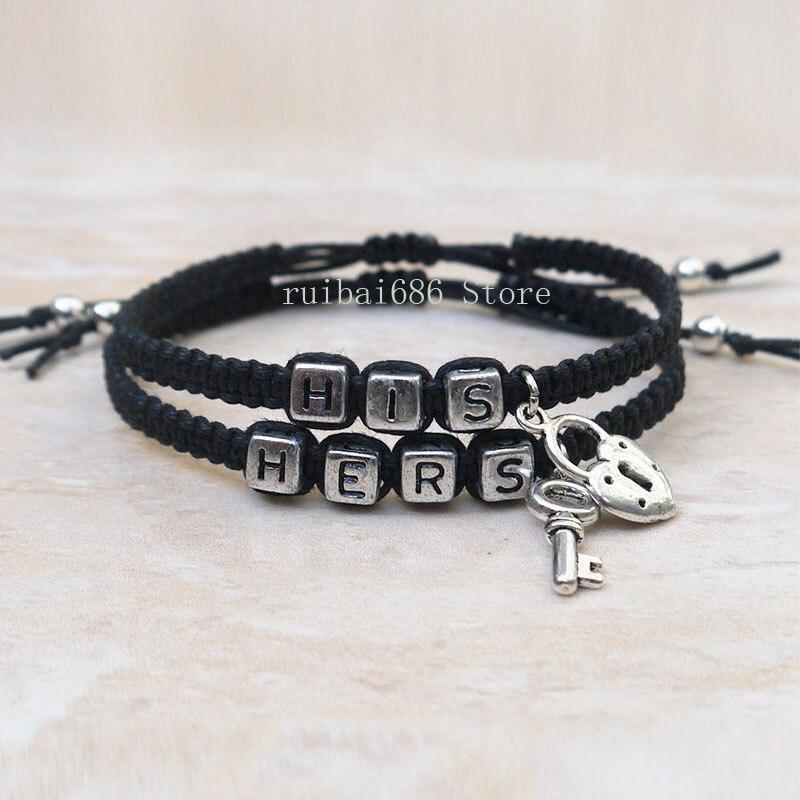 Schlüssel und Schloss Paare Armbänder Set, und Ihn Armbänder ...