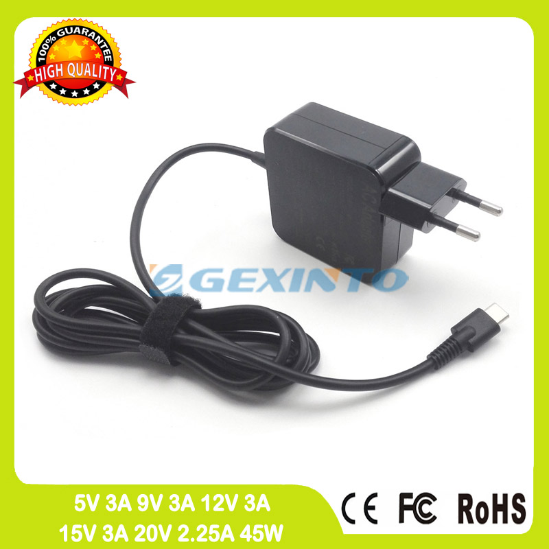 45W Type C USB-C ac adapter 20V 2.25A Laptop Charger For Asus Transformer Book T302 Chi T302CA 3 Pro T303UA T305CA EU plug