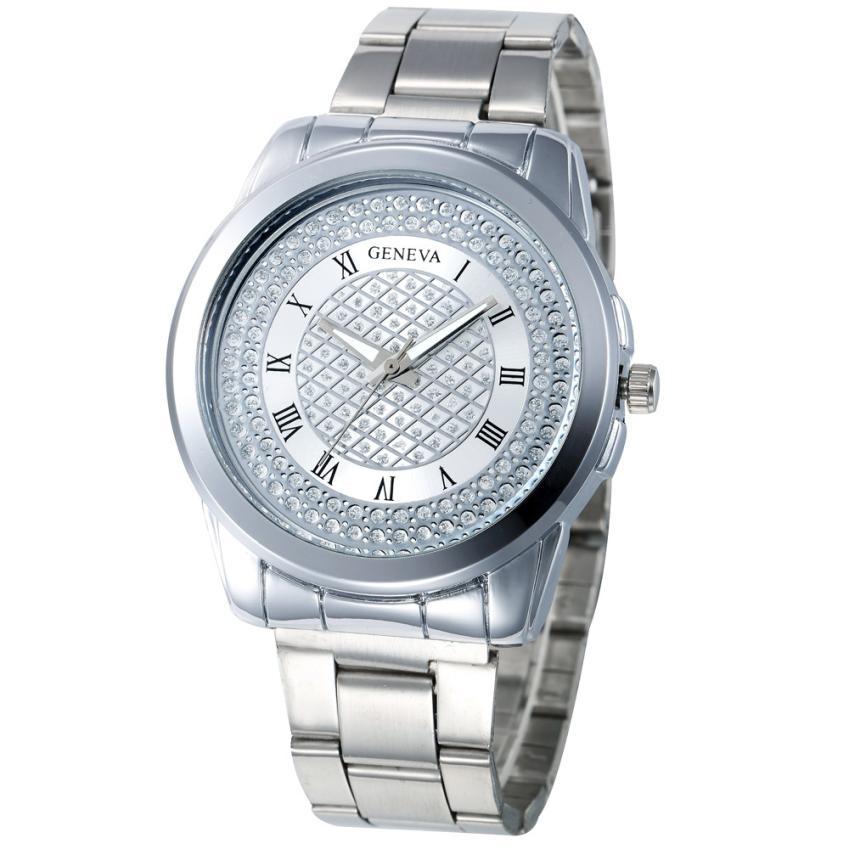 luxury Brand fashion stainless steel women watch Quartz Hour Wrist Analog Watch silver gold rose gold clock womens bracelet  недорого