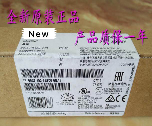 100%  Originla New  2 years warranty     6ES7193-6BP00-0BA1100%  Originla New  2 years warranty     6ES7193-6BP00-0BA1