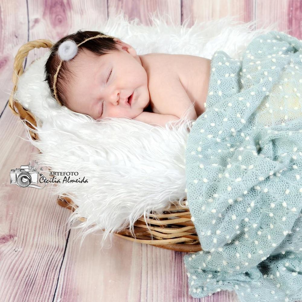 цена на 150x100cm Mini Bobble Newborn Photography Backdrop Popcorn Fabric Baby Posing Dots Fabric Photography Blanket Newborn Photo Prop