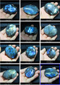 Christmas gift   NATURAL Polished Freeform labradorite quartz crystal Palm Worry Stone