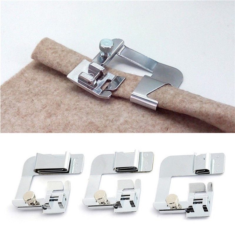 1PC Roller Foot Domestic Sewing Machine Foot Presser Rolled Hem Feet Set For Brother Singer Sewing Accessories|Sewing Tools & Accessory|   - AliExpress