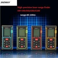 SNDWAY 40M 60M 80M 100M 150M Digital Laser Distance Meter Trena Laser Tape Measure Diastimeter Tester