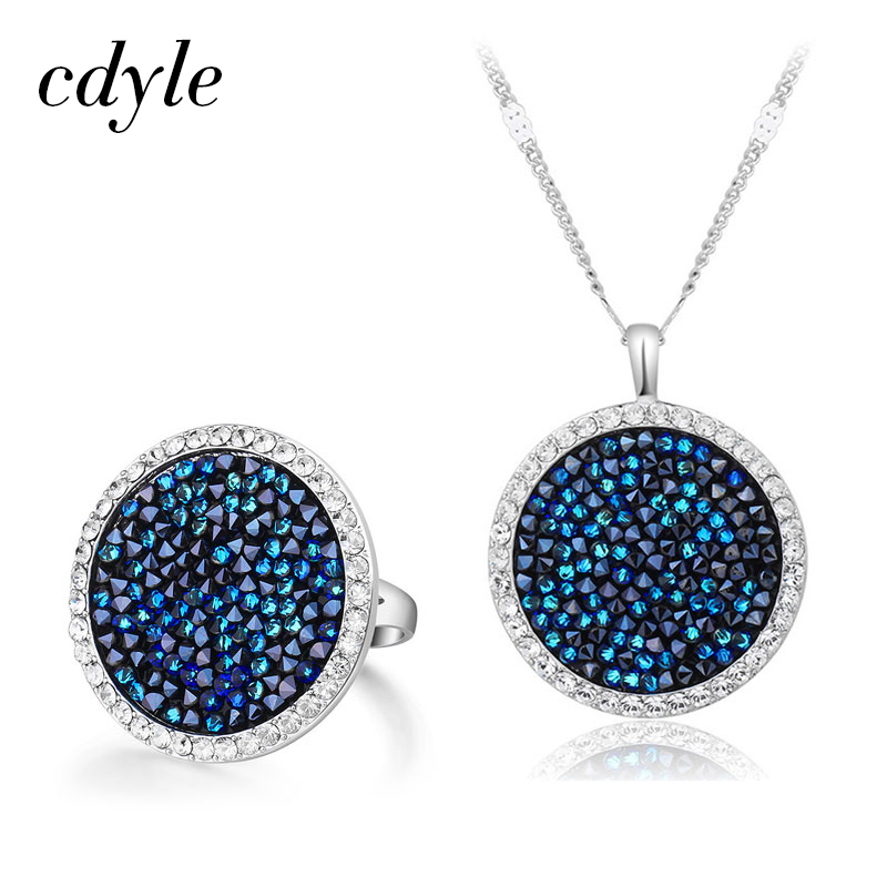 Cdyle Blue Gem Women Embellished with crystals Female Vintage Retro Round Party Geometric Metallic Classic NewCdyle Blue Gem Women Embellished with crystals Female Vintage Retro Round Party Geometric Metallic Classic New