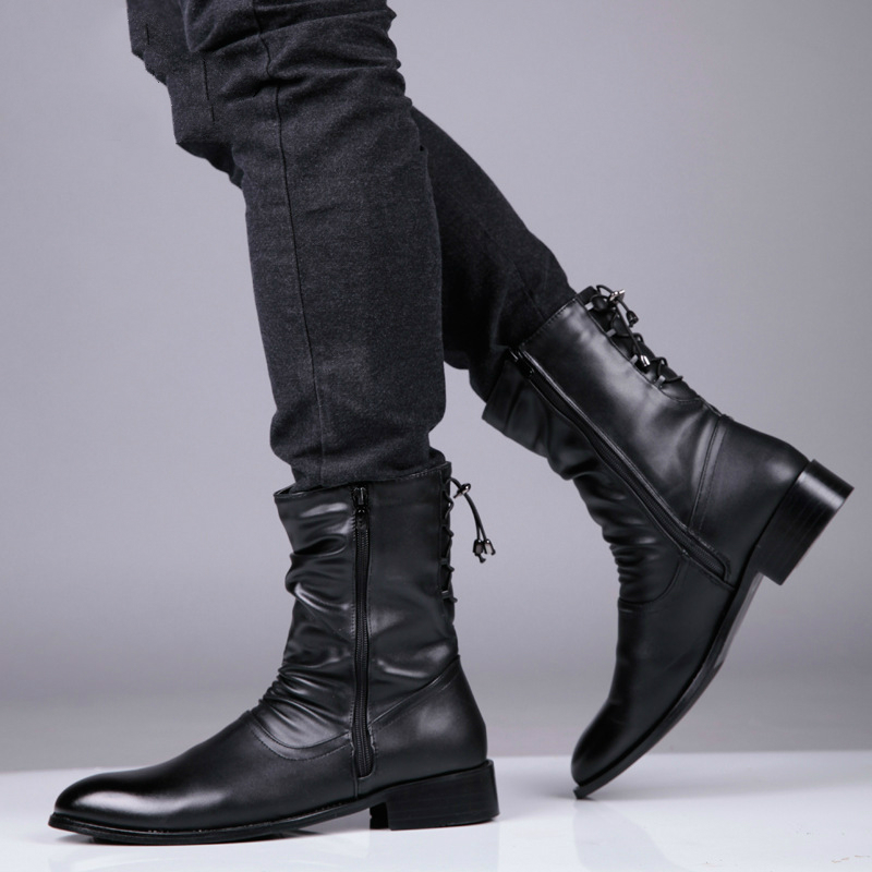 Soft Leather Boots Mens