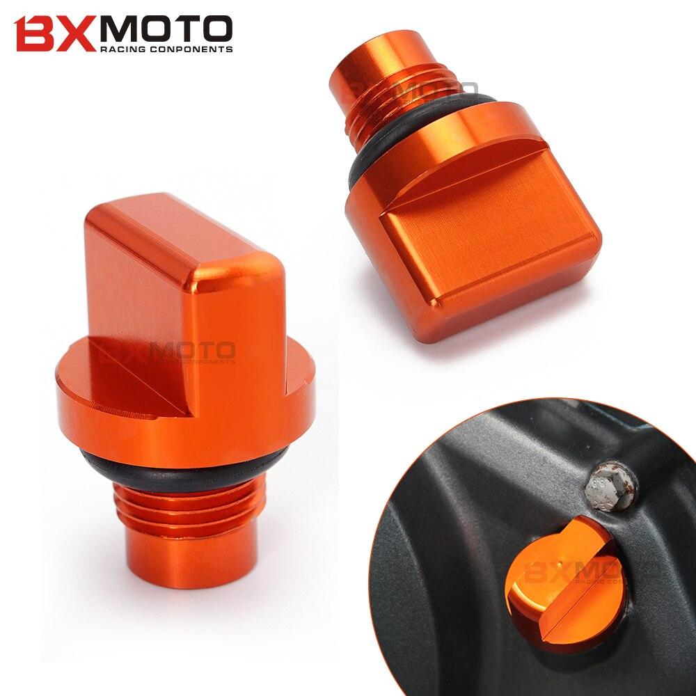 Motorcycle Accessories parts CNC Orange Aluminum Engine Magnetic Oil Drain Plug For KTM DUKE 125 200 390 RC 125 200 390 duke