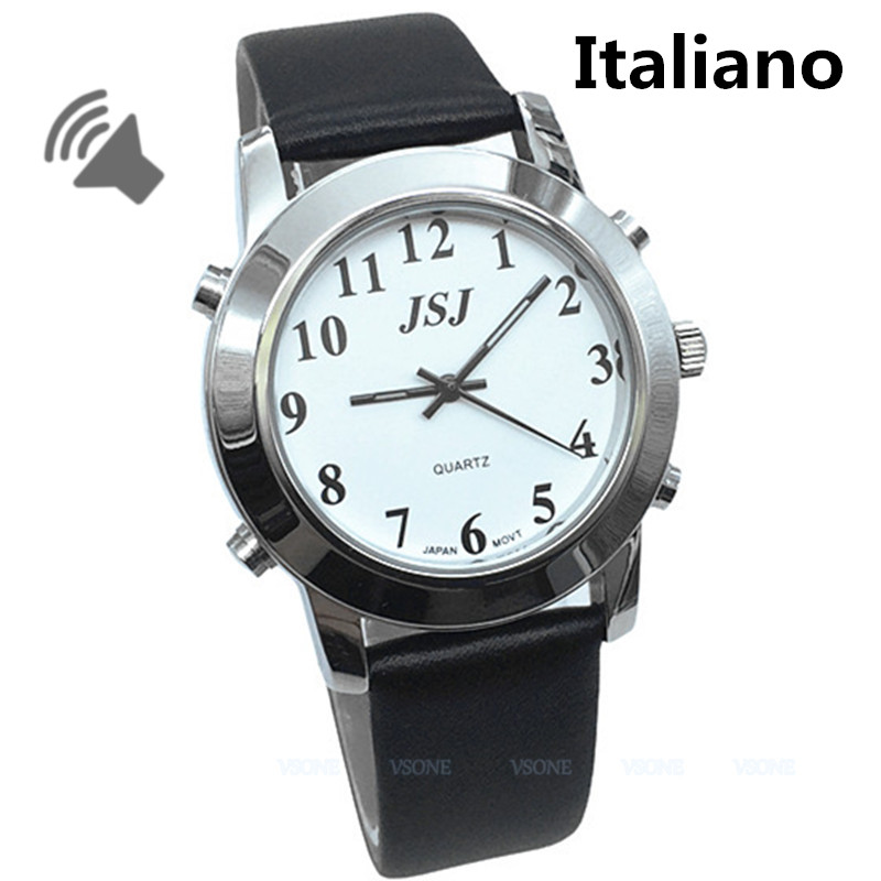 Italiano Talking Watch for Blind People or Low Vison Orologio Parlante italiano platinum deluxe