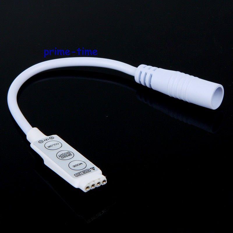 wholesale 50pcs Mini 3 Keys RGB Led Controller Dimmer With DC Female Plug For 3528 5050 RGB LED Strip Free Shipping free shipping 50pcs mje15033g 50pcs mje15032g mje15033 mje15032 to 220