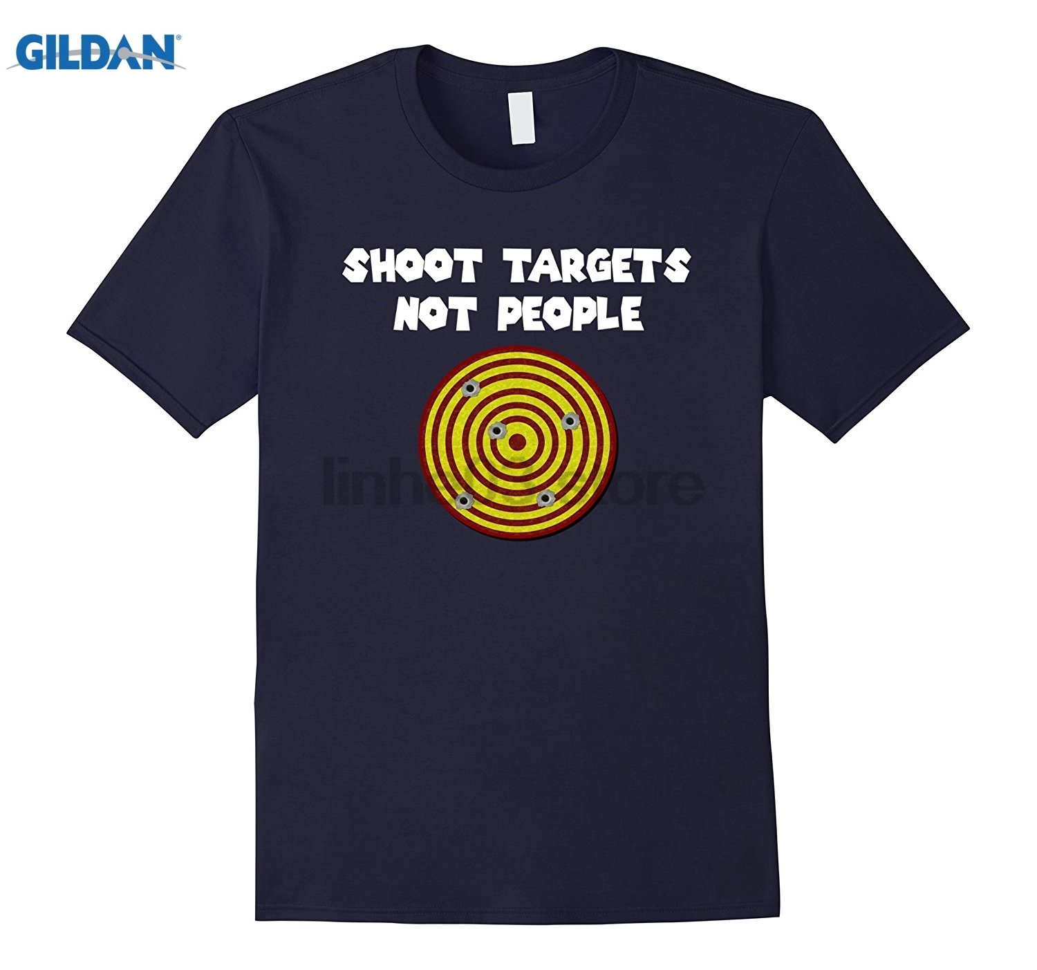 GILDAN SHOOT TARGETS NOT PEOPLE T-SHIRTS (FIRING RANGE TARGET) Womens T-shirt Womens T-shirt