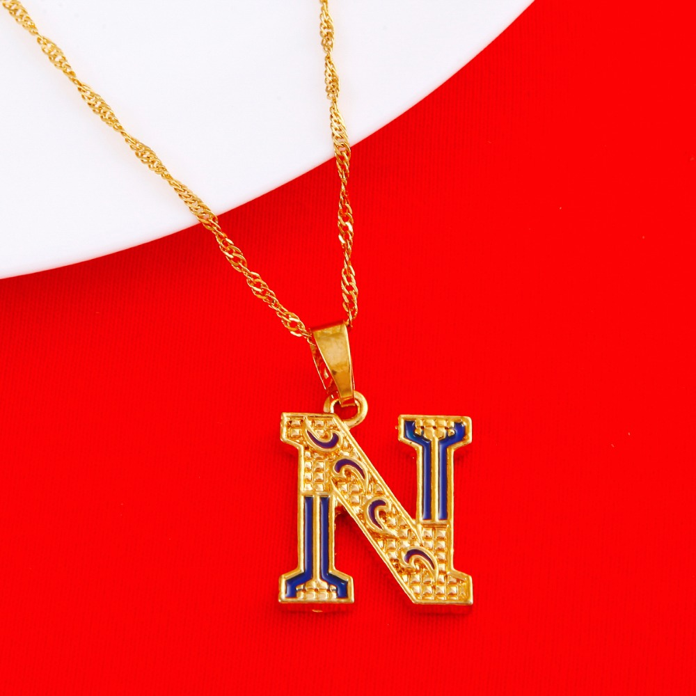 Capital initial letter n pendant necklace women valentines new capital initial letter n pendant necklace women valentines new fashion alphabet letter charm pendant in pendants from jewelry accessories on aloadofball Gallery