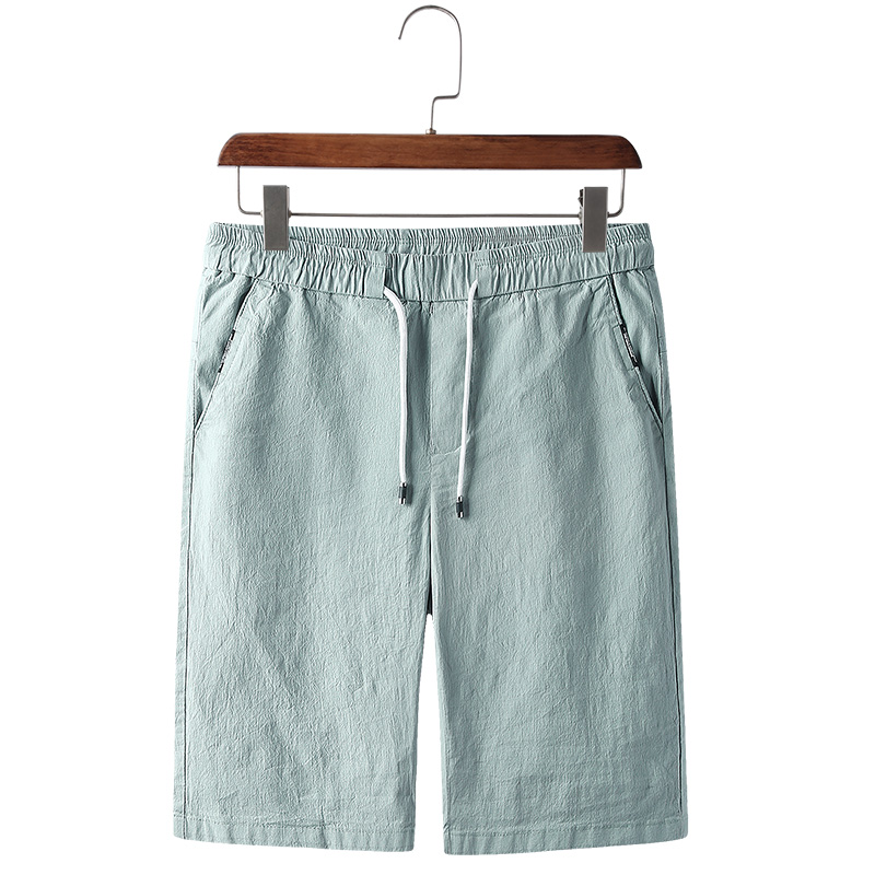 Solid Color Mens Shorts Breathable Casual Mens Shorts Elastic Waist High Quality Gray Blue Khaki Green Mens Shorts