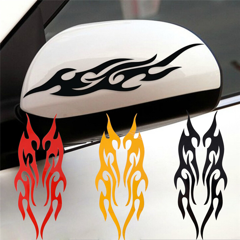 CAR DECORATION DECALS STICKER FLAME X 2 PIECES