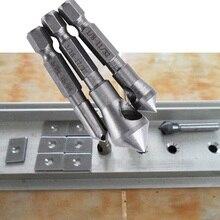 3 قطعة HSS التيتانيوم المغلفة مثقاب و Deburring أداة الخشب المعادن مثقاب الخشب Tapper ثقب القاطع الشطب مجموعة