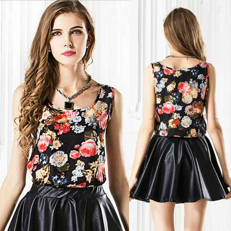 Hot Womens summer printed Tank Tops for women new 2019 sleeveless girl Casual Camis Vest basice shirts Chiffon Blouses Plus Size