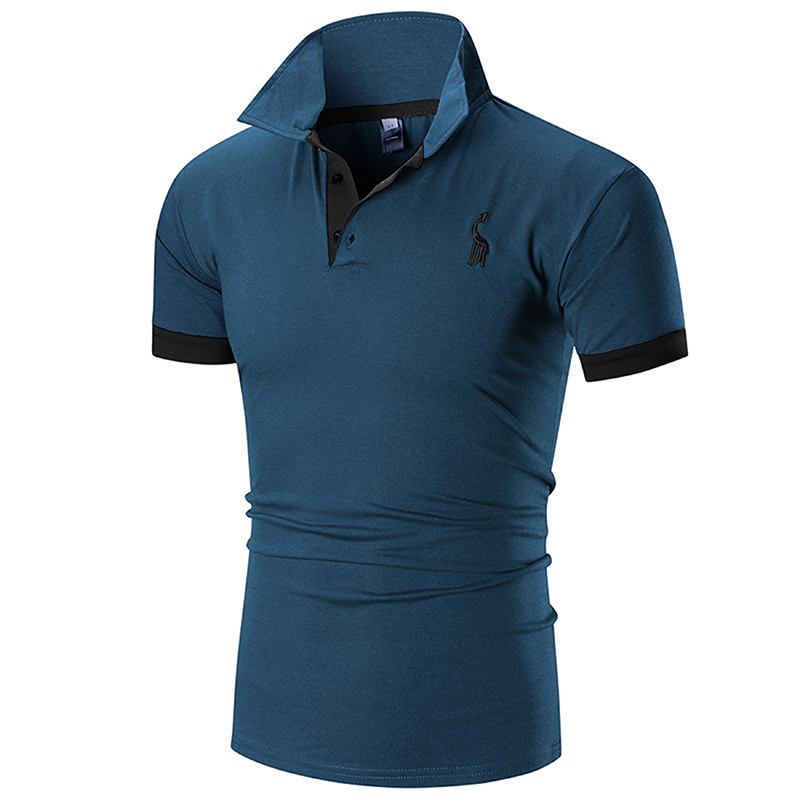 2019 Summer Mens Polo Shirt Brands Male Short Sleeve Casual Slim Fit Solid Color Polo Shirt
