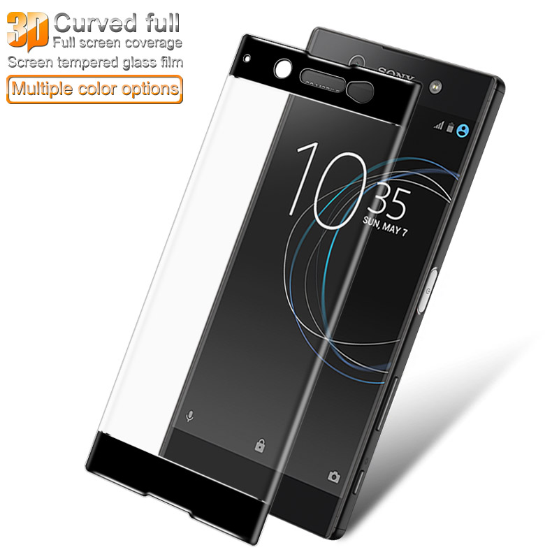 For Sony Xperia XA1 Ultra 3D Curved Full Cover Tempered Glass for Sony G3221 G3223 Dual Sim G3212 G3226 AGREAL Screen Protector