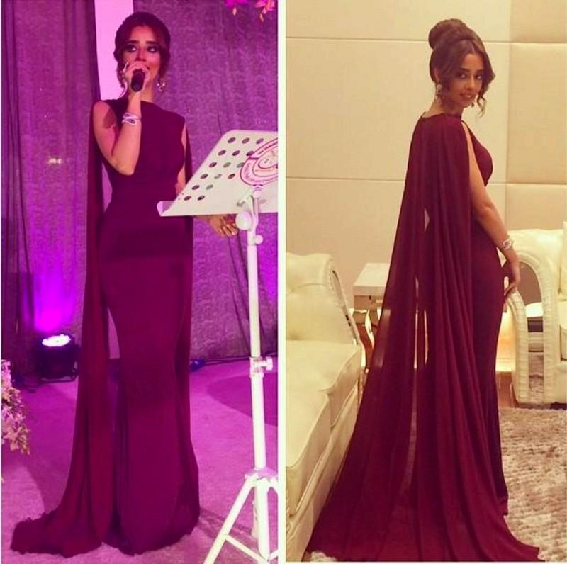 2018 Burgundy Mermaid Saudi Arabic Evening Watteau Train Dubai Prom Party Gown Off The Shoulder Mother Of The Bride Dresses