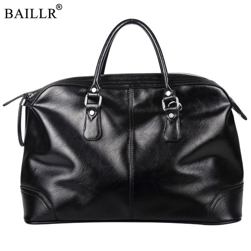 2018 New Fashion Multifunction casual High-capacity PU leather Travel Bag men messenger Zipped handbag high quality Weekend Tote