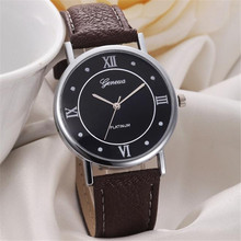 Elegant Luxury Women Watch 2017 Fashion Generous Leather Quartz Men Watch Ladies Dress Casual Wristwatch Relogio Feminino Clock