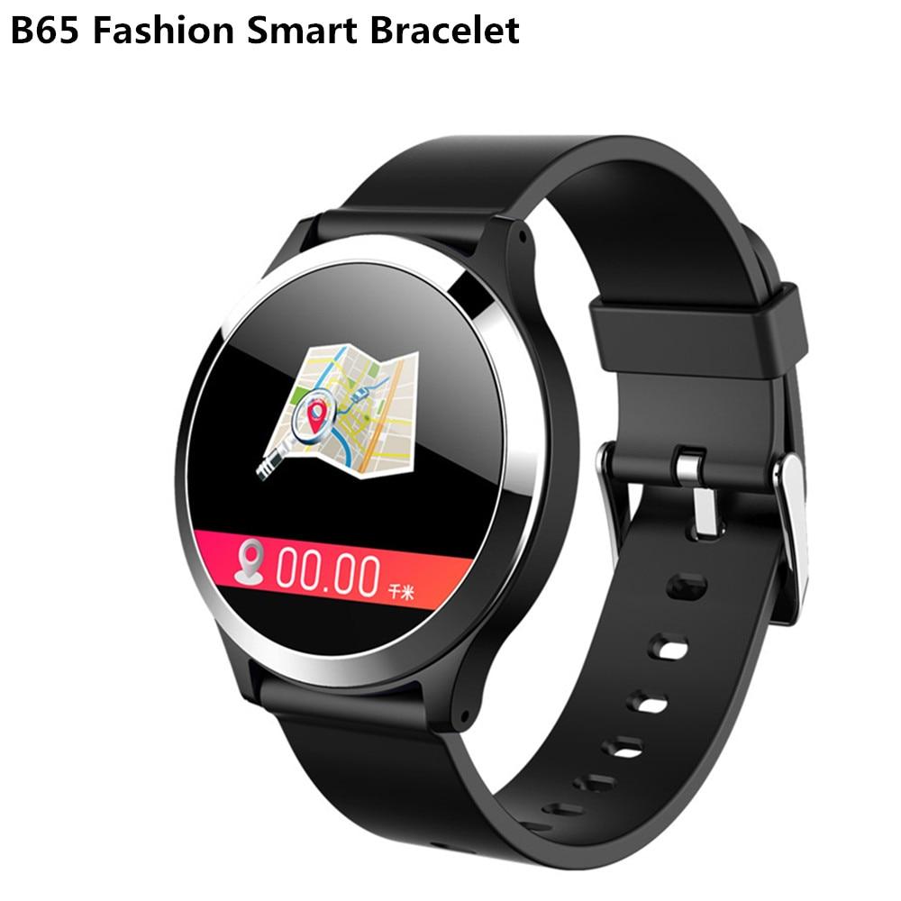 B65 Bracelet intelligent de mode EEG et ECG Triple puce moniteur IP67 étanche appel téléphonique message alerte montre de Sport intelligente