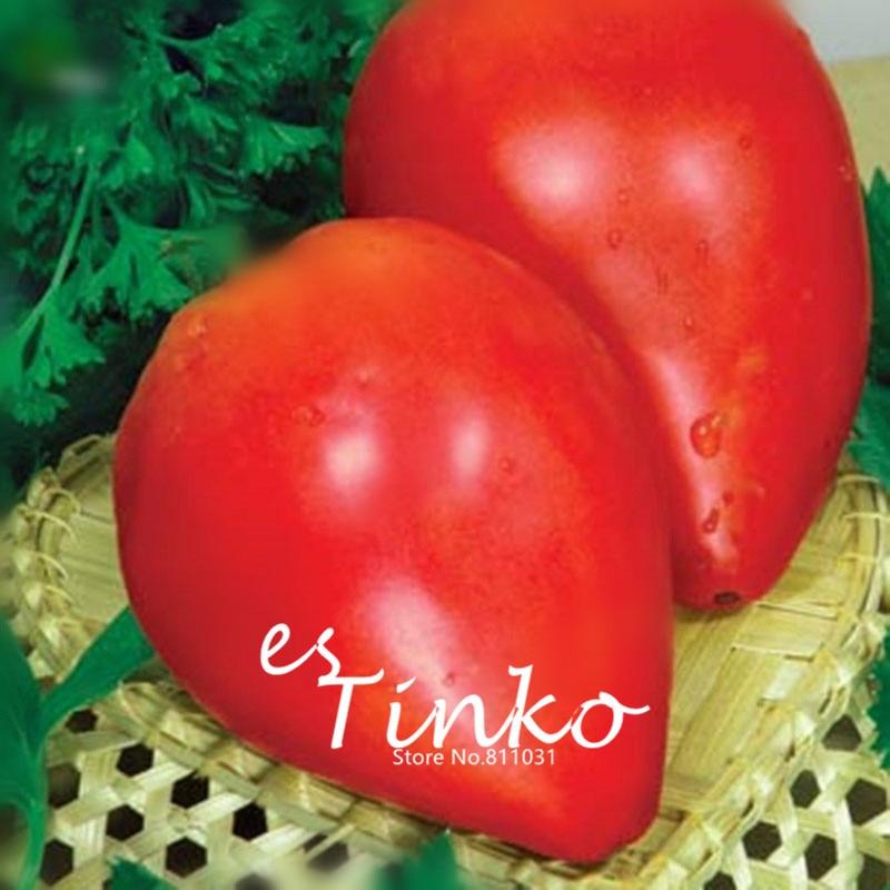50pcs Heirloom Beefsteak Tomato Volove Sertse Chervonyy - Bulls Heart Red Tomato Seeds Fruit and Vegetable Seeds Home Garden