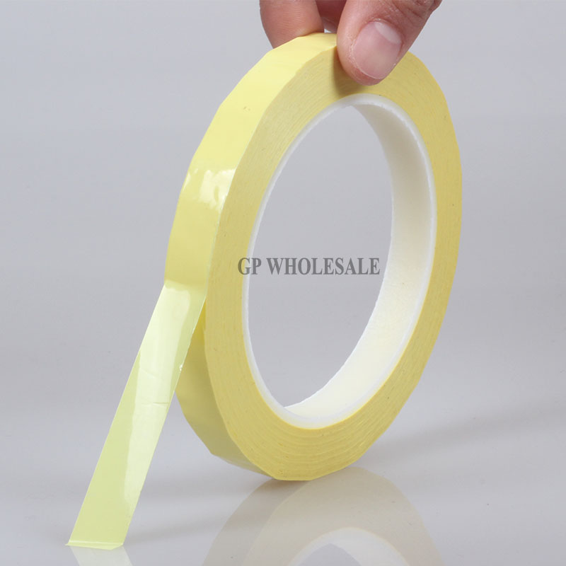 66Meters/roll, 5mm~28mm Wide Adhesive Insulation Mylar Tape for Transformer, Motor, Capacitor, Coil Wrap, Anti-Flame Yellow