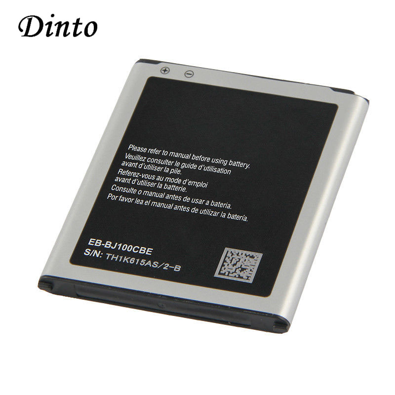 Dinto 1850mAh EB-BJ100BBE Replacement Smart Phone <font><b>Battery</b></font> for <font><b>Samsung</b></font> GALAXY J1 J100 <font><b>J100H</b></font> J100FM J100M J100D EB-BJ100CBE image