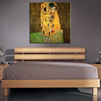 Original famous Paint The Kiss by Gustav Klimt wall painting for home decor oil painting art handpainted on canvas No Framed