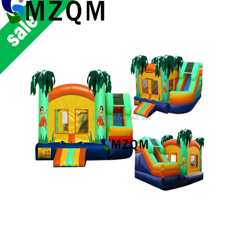 MZQM cheap inflatable bouncer for sale  commercial inflatable combo Castle With Slide Inflatable Jumpy Castle free shipping commercial 5 4 5m dragon inflatable bouncer castle with slide