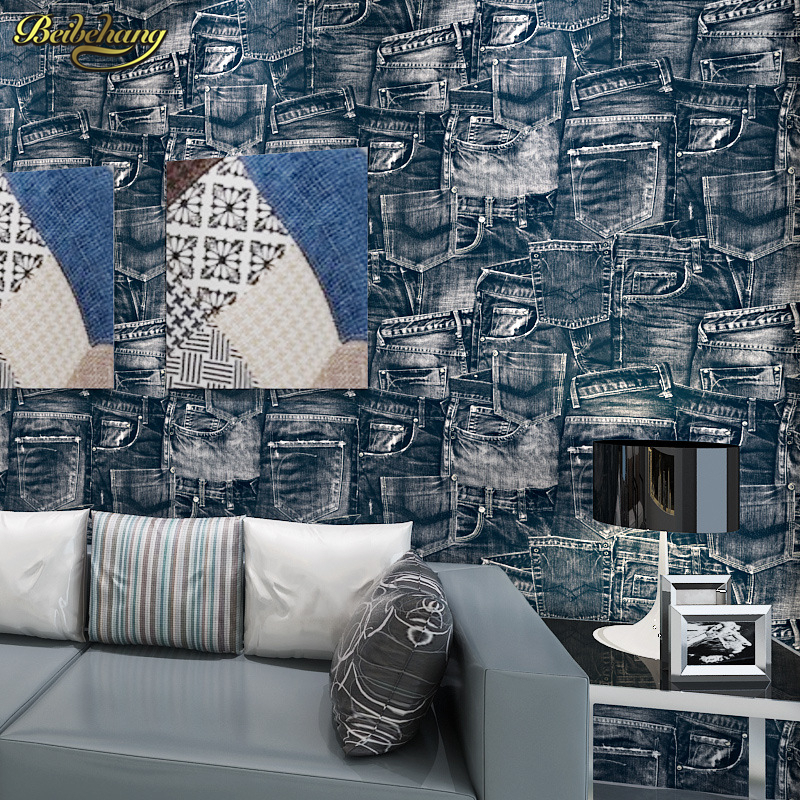 beibehang papel de parede,British retro jeans fashion simulation green pure paper wallpaper backdrop living room restaurant beibehang papel de parede wallpaper shop for living room backdrop british style flag pure paper bedroom wallpaper ab edition