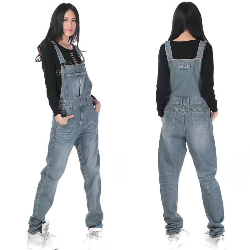 Free Shipping Jeans Fashion Loose Plus Size XS-5XL Pants For Women High Quality Overalls   Jumpsuit   And Rompers Denim Trousers