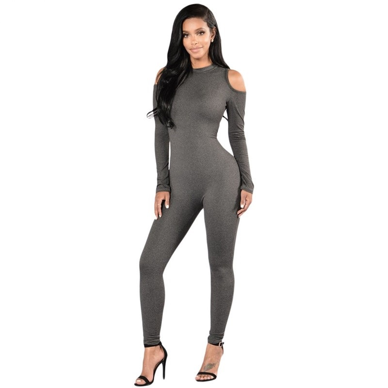 Womens Grey Jumpsuit Promotion-Shop for Promotional Womens Grey ...