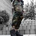 Высокое Качество мужские брюки-Карго бегунов Брюки Военный Мужчины нескольких карман Комбинезоны тактические Брюки Армии Камуфляж моды