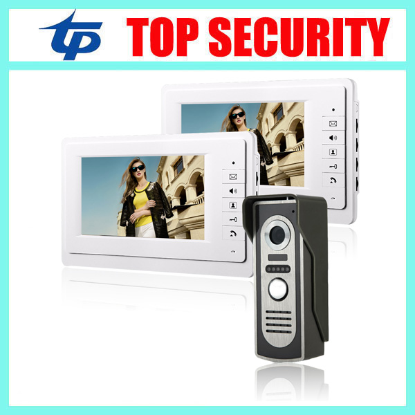 Wired 7 inch color screen video door phone 16 songs to choose IR night version access control villa video intercom door bell exported quality screen printing frame 7 5x10 inch 19x25cm wholesale price door to door