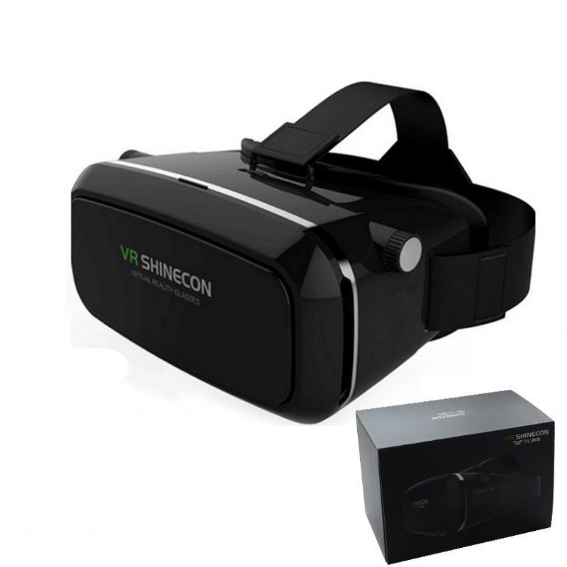 Shinecon 3D <font><b>VR</b></font> <font><b>Headset</b></font> <font><b>Virtual</b></font> <font><b>Reality</b></font> Box with <font><b>Adjustable</b></font> Lens & Strap for iPhone 5s 6 Samsung S7 Edge 4.7-6 inch Smartphone