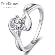 2 colors curve mall zirconium Type Cubic Zirconia Silver Color Ring for Female Fashion Popular Rhinestone Wedding Rings for Wo