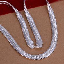 10mm wide smooth snake chain necklace 925 sterling silver jewelry for women necklace accessories jewelry for women't  jewerly