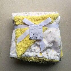 Apenas bonito novo bebê cobertores engrossar dupla camada coral velo infantil swaddle bebe envelope envoltório do bebê recém-nascido cobertor de cama
