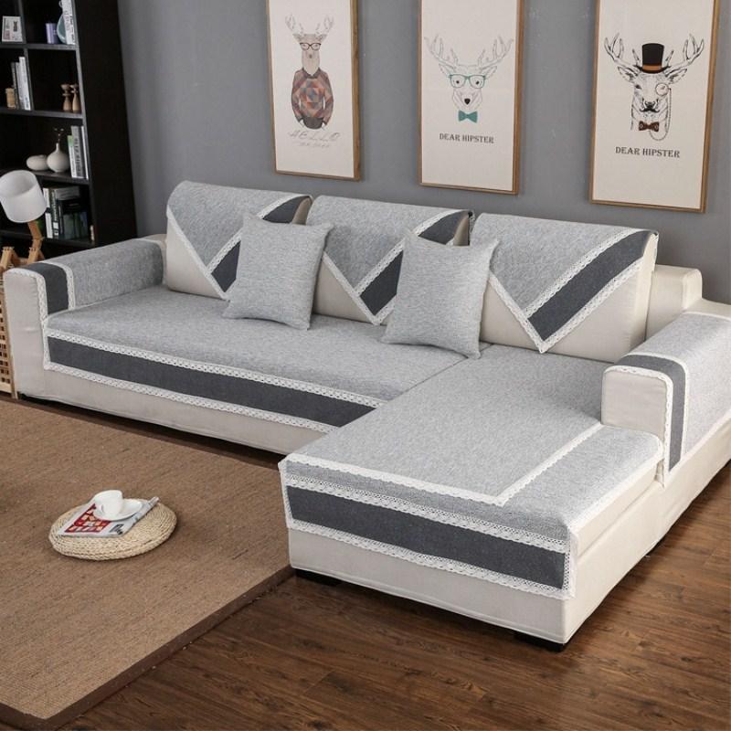 Cotton Linen Fabric Sofa Towel Sofa Cover Modern Style