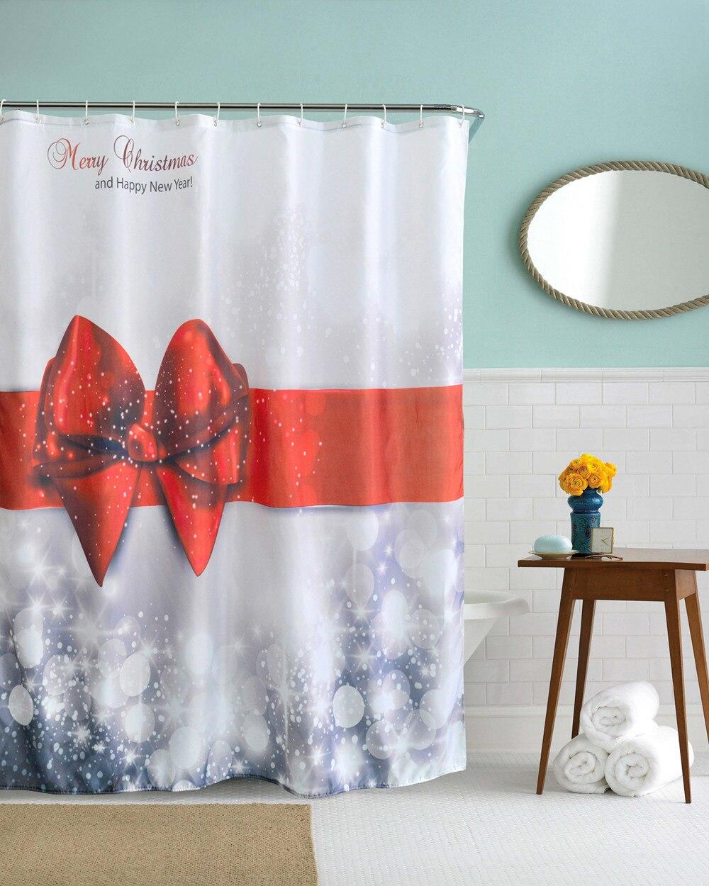 Popular Christmas Bathroom Shower Curtains-Buy Cheap Christmas ...