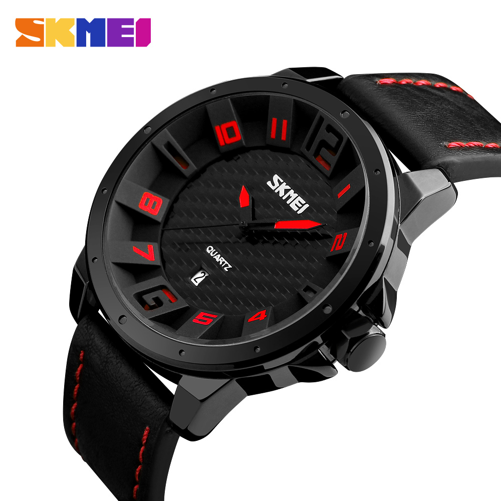 SKMEI Luxury Brand Military Watches Men Quartz Analog 3D Face Leather Clock Man Sports Watches Army Watch Relogios Masculino luxury brand pagani design waterproof quartz watch army military leather watch clock sports men s watches relogios masculino