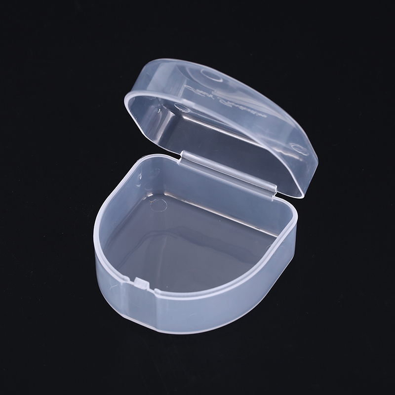 1PCS Clear Orthodontic Retainer Box Compact Dental Case for Mouthguards Biteguards Dentures Sport Guard Organizer1PCS Clear Orthodontic Retainer Box Compact Dental Case for Mouthguards Biteguards Dentures Sport Guard Organizer